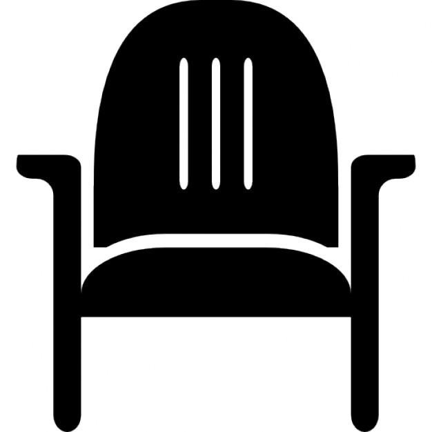 Stoel met armleuningen iconen gratis download for Mueble vector