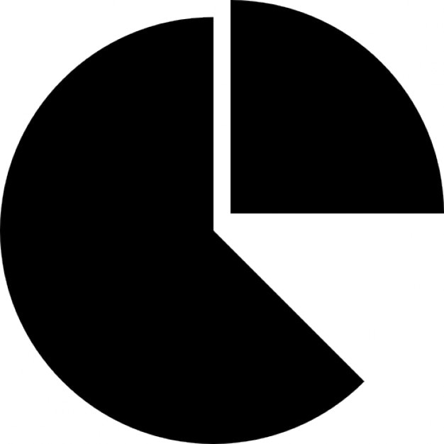 Taart in stukken of zakelijke ronde taart afbeelding van percentages iconen gratis download - Stukken outs ...