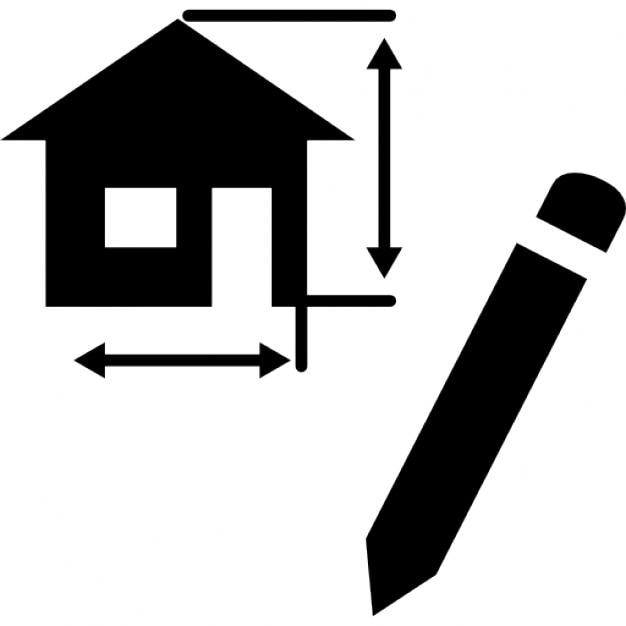 Tekening architectuur project van een huis iconen gratis download - Model van huisarchitectuur ...