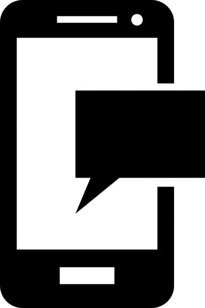 Telefoon sms-bericht Gratis Icoon