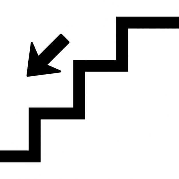 Trap naar beneden iconen gratis download - Beneden trap ...