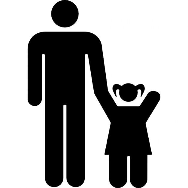vader met dochter iconen gratis download