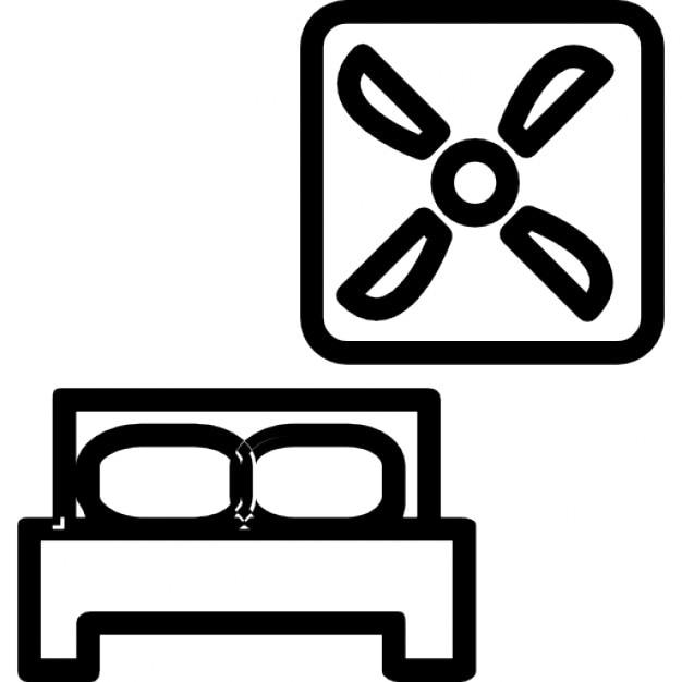 Ventilatie van de slaapkamer Iconen | Gratis Download
