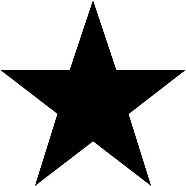 Vijf punten ster. Gratis Icoon