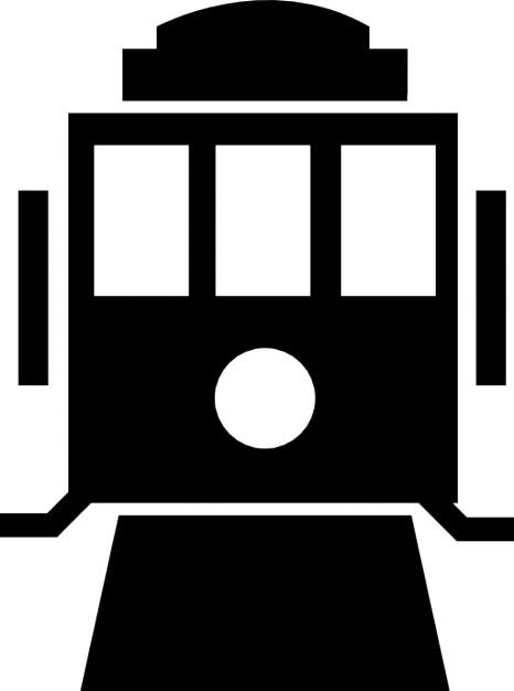 Voorzijde van de trein Gratis Icoon
