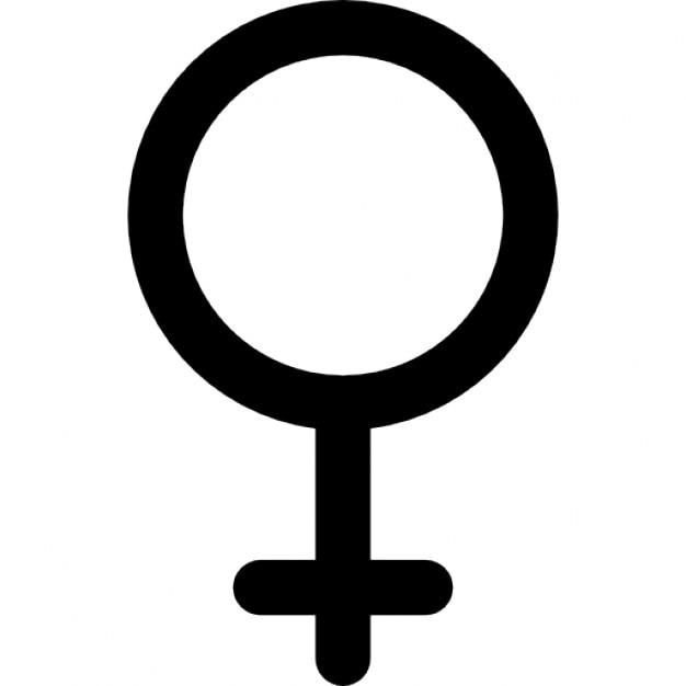 Vrouwelijk geslacht teken Gratis Icoon