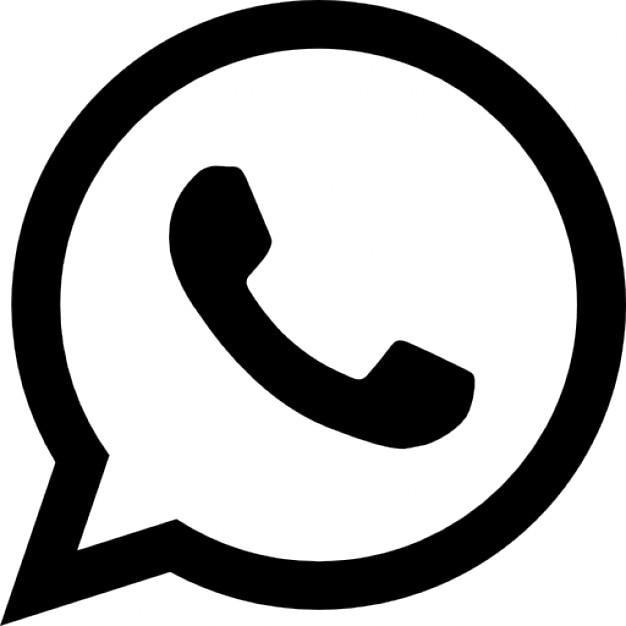 Whatsapp logo variant Gratis Icoon