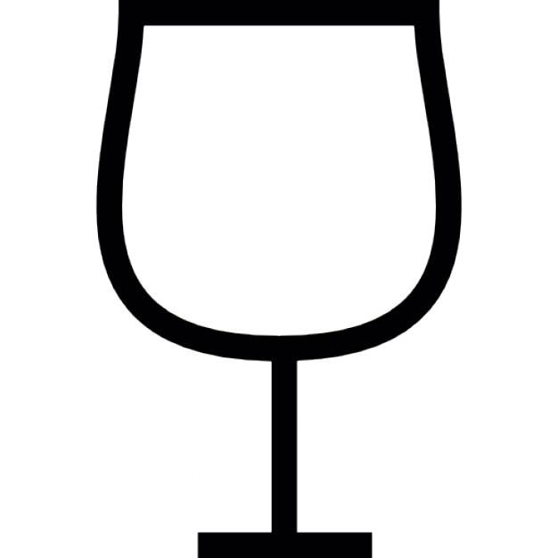 Wijnglas vorm, ios 7 symbool Gratis Icoon