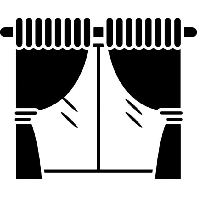 Woonkamer raam met gordijnen Iconen | Gratis Download