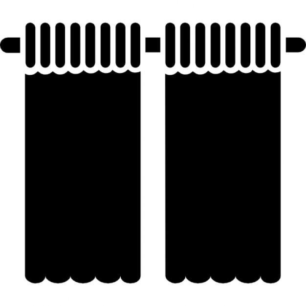Woonkamer zwarte gordijnen Iconen   Gratis Download