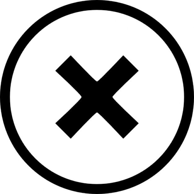 X cirkel Gratis Icoon