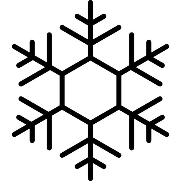 zeshoekige sneeuwvlok ontwerp iconen gratis