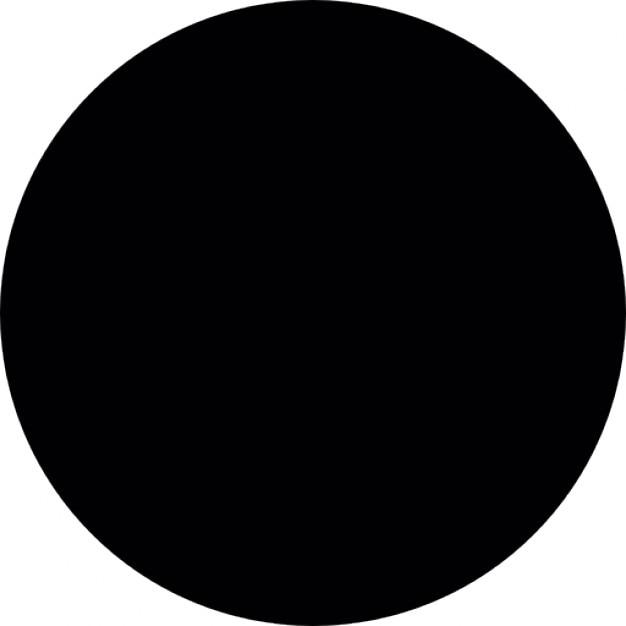 Zwarte cirkel iconen gratis download