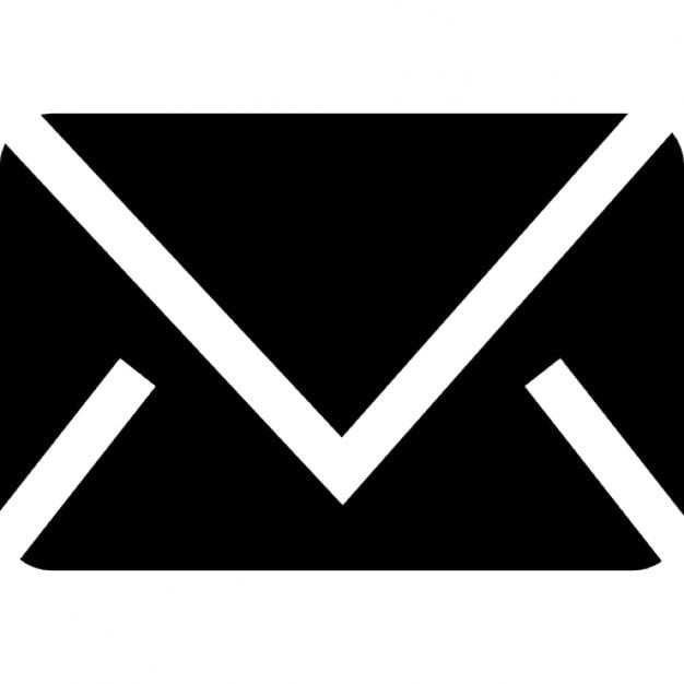 Zwarte envelop silhouet iconen gratis download