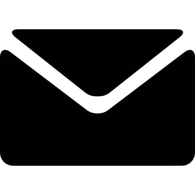 Zwarte envelop Gratis Icoon