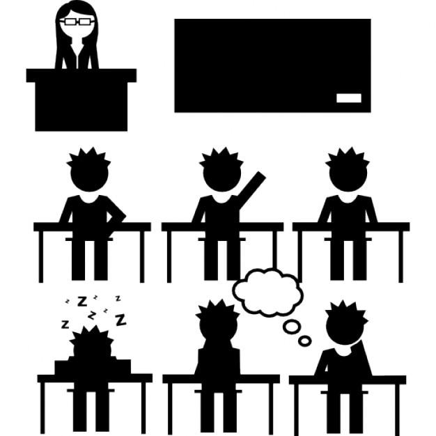 Classroom Decor Black And White ~ Alunos e professores em sala de aula download Ícones