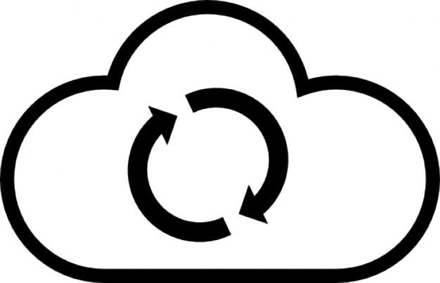 Atualização cloud computador Ícone grátis