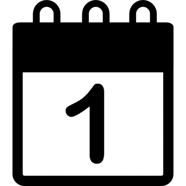 Calendário com data número 1   Download Ícones gratuitos