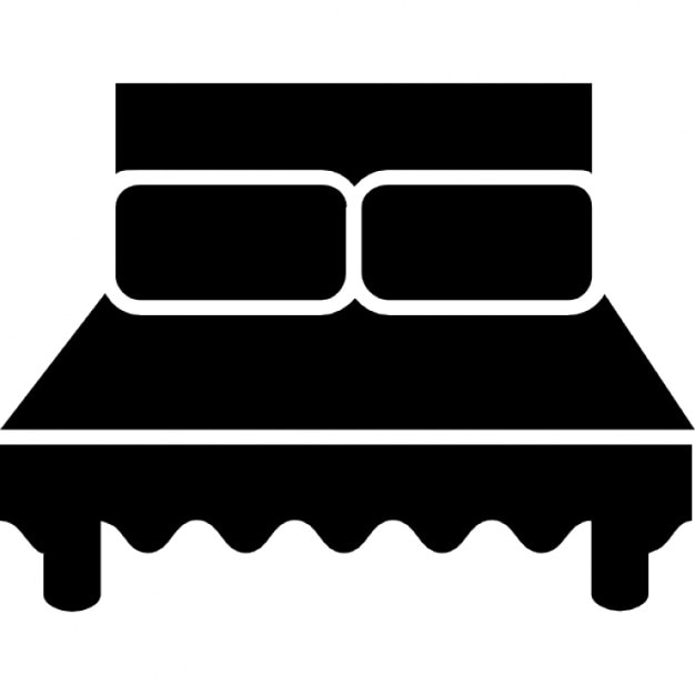 Queen Bed Vector
