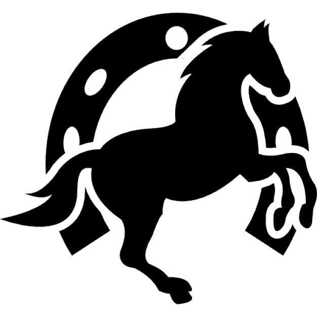 cavalo dança e fundo ferradura download Ícones gratuitos