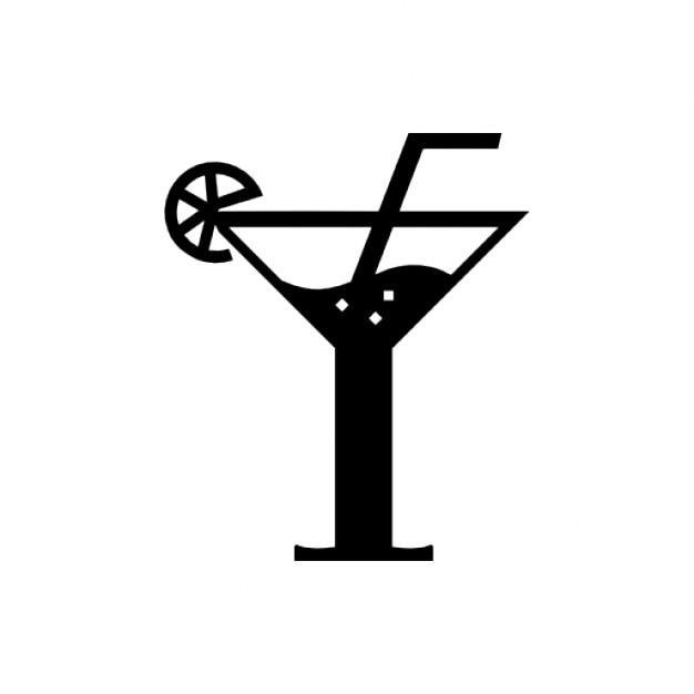 Cocktail copo Ícone grátis
