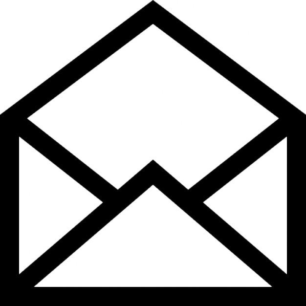 e mail aberta s mbolo de interface download cones gratuitos. Black Bedroom Furniture Sets. Home Design Ideas