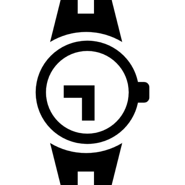 Ferramenta de relógio de pulso de forma circular Ícone grátis