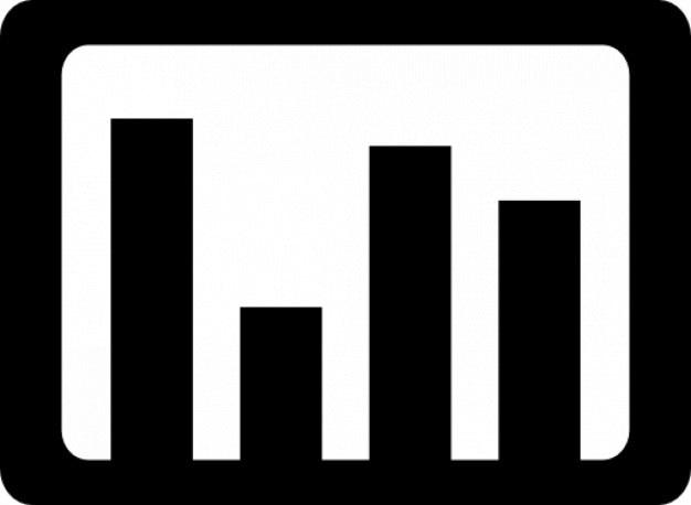 Gráficos de barras Ícone grátis
