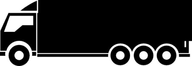 Grande caminhão Ícone grátis
