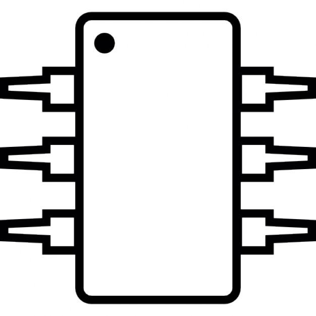 Circuito Integrado Simbolo : Ic circuito integrado michrochip ios símbolo