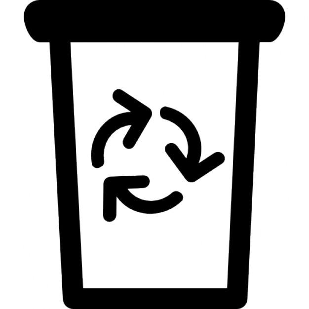 Lata De Lixo Com Simbolo De Reciclagem Download Icones Gratuitos