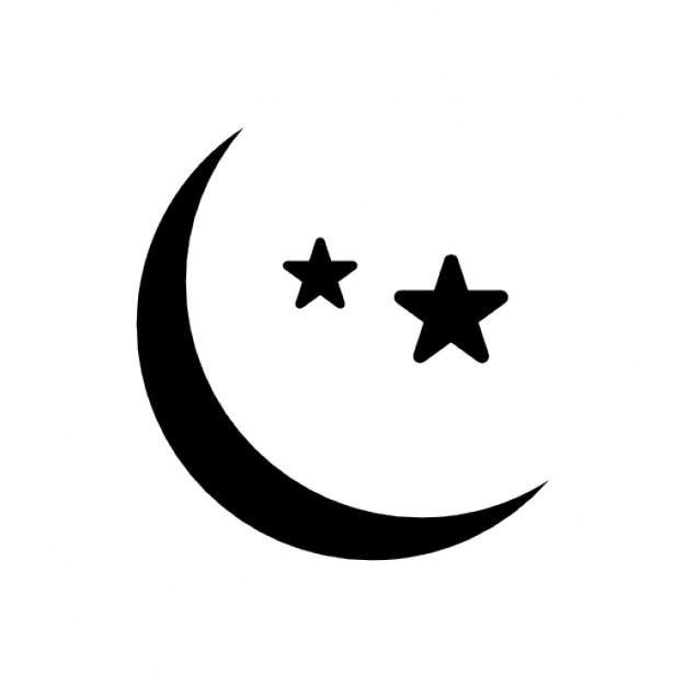 Lua e as estrelas Ícone grátis