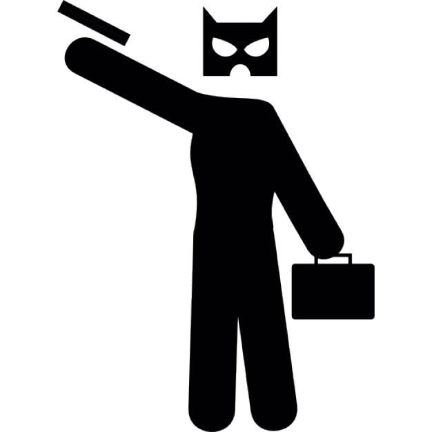 Máscara de ladrão Ícone grátis