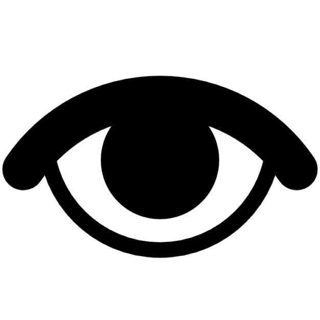 Olho representando visível Ícone grátis