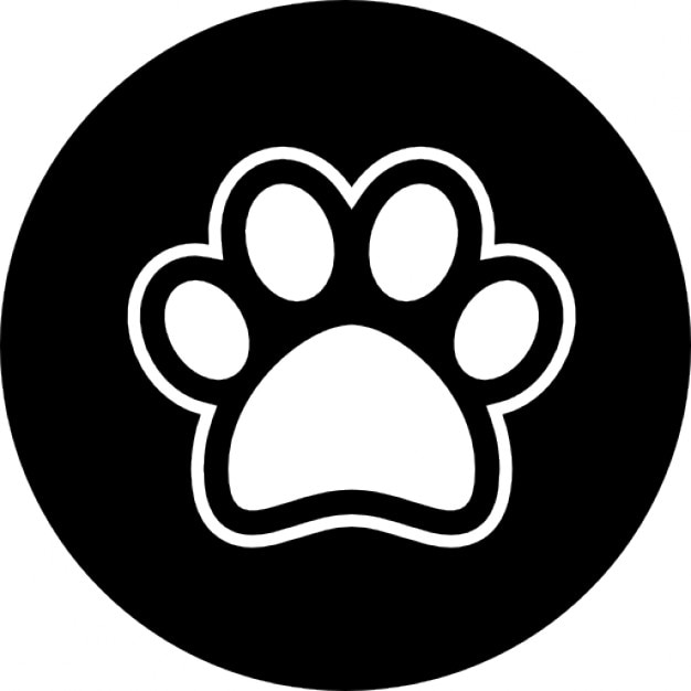 pata do c u00e3o download  u00cdcones gratuitos dog paw print vector art free Dog Paw Print Silhouette