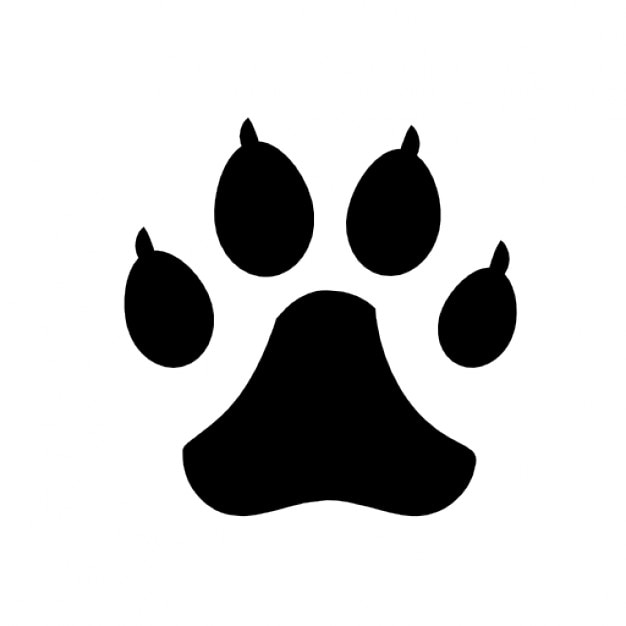 Pegadas de cães Ícone grátis
