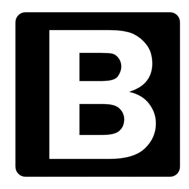 Amazing B&q Kitchen Tiles Ideas Part - 14: Quadrado Preto B Ícone Grátis