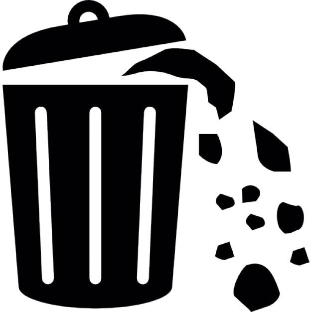 Resíduos Lata Cheia De Lixo