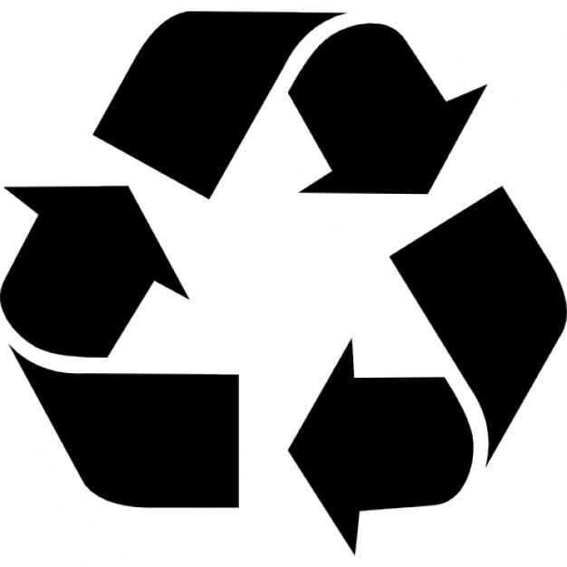 Setas triangulares assinar para reciclagem Ícone grátis
