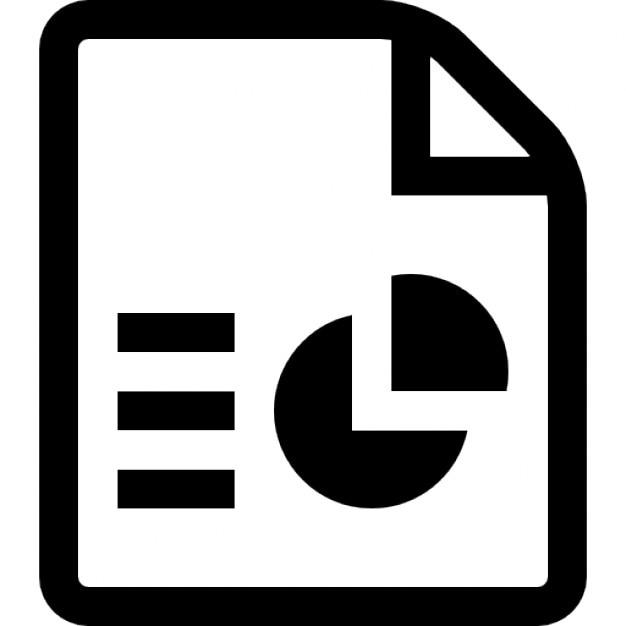Símbolo arquivo powerpoint Ícone grátis