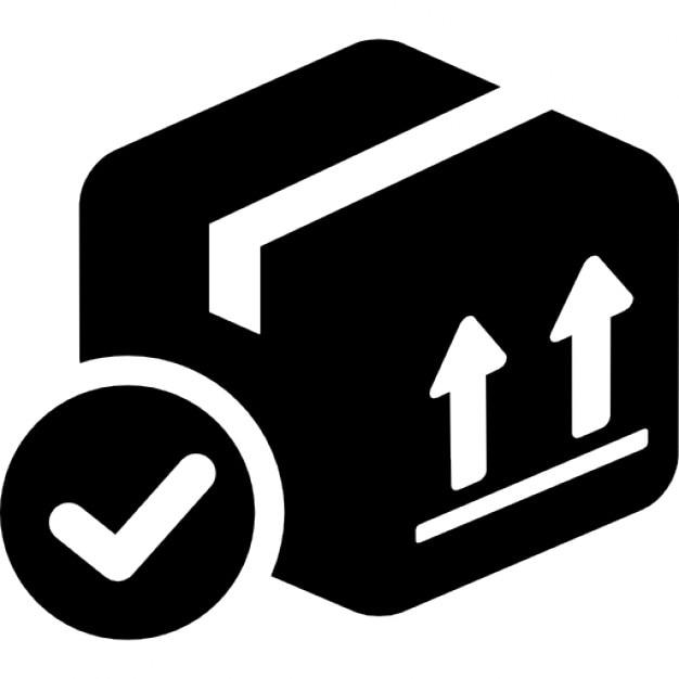 Símbolo de verificação caixa entregue Ícone grátis