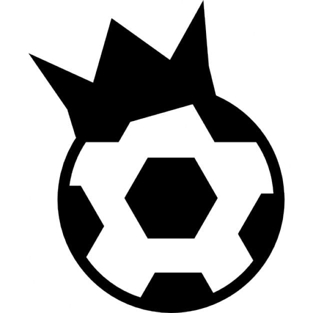 Símbolo prêmio esportivo de uma bola de futebol com uma f09885a41ad38