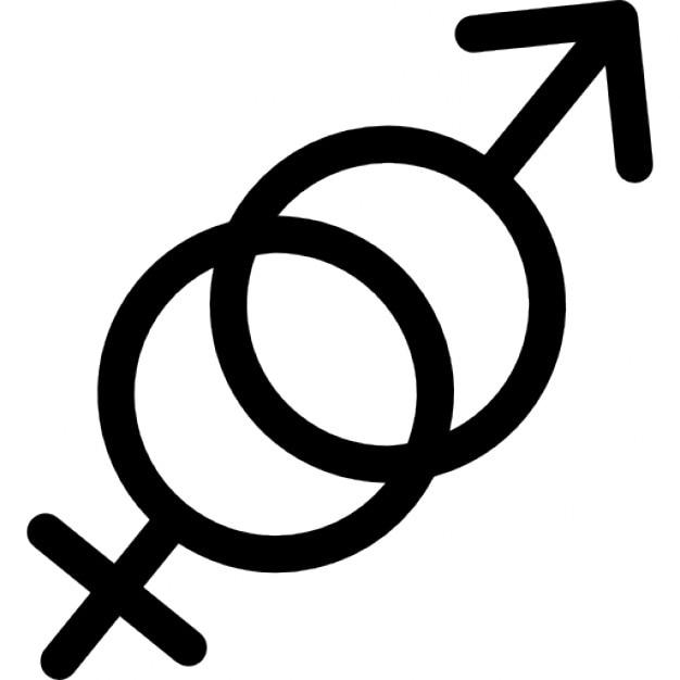 Símbolos do género masculino e feminino  Download Ícones gratuitos -> Simbolo Banheiro Feminino E Masculino