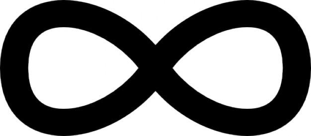 sinal de infinito download  u00cdcones gratuitos infinity symbol vector free infinity symbol vector art free
