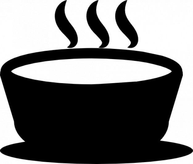 Sopa quente em uma tigela Ícone grátis