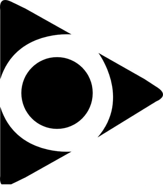 Triângulo e círculo. forma abstrata Ícone grátis