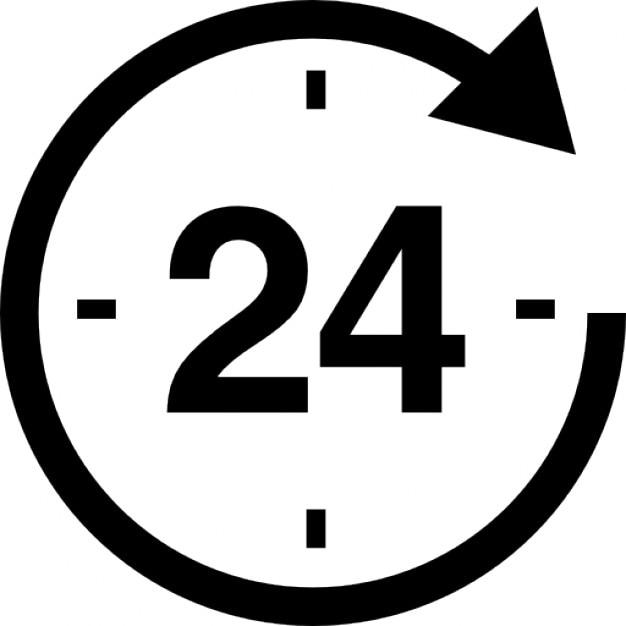 24 heures autour de l 39 horloge t l charger icons gratuitement. Black Bedroom Furniture Sets. Home Design Ideas