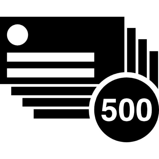 500 Cartes De Visite Copies Icon Gratuit