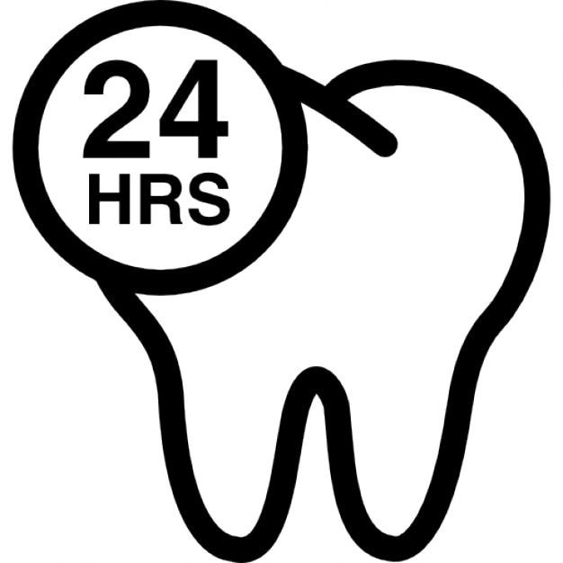 aide au dentiste 24 heures par jour t l charger icons gratuitement. Black Bedroom Furniture Sets. Home Design Ideas