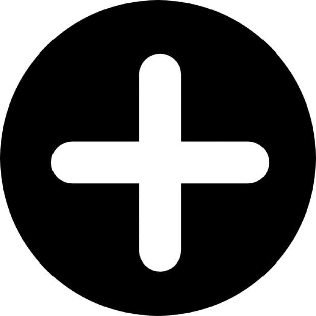 ajouter un bouton avec le symbole plus dans un cercle noir t l charger icons gratuitement. Black Bedroom Furniture Sets. Home Design Ideas